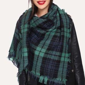 Accessories - 1 LEFT! Cozy Oversized Plaid Blanket Scarf Wrap